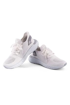 AKX 7 132 Beyaz Beyaz Hava Akışlı Erkek Spor Ayakkabı 1