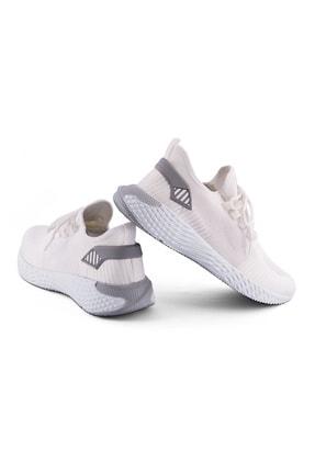 AKX 7 132 Beyaz Beyaz Hava Akışlı Erkek Spor Ayakkabı 2