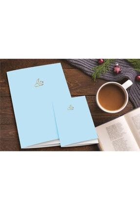 AKILLICA 2'li Defter Seti Kareli Defter Pastel Notebook Mavi 0