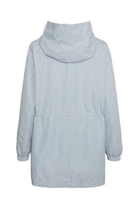 Vero Moda Kadın Mavi Kapüşonlu Beli Büzgülü Mevsimlik Mont 1