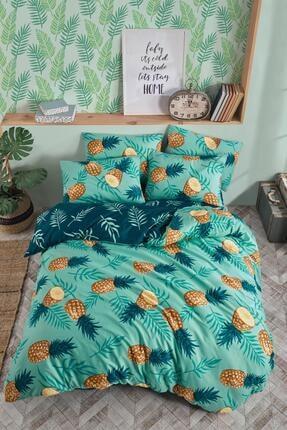 Fushia Pineapple % 100 Pamuk Çift Kişilik Nevresim Seti 1
