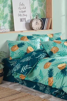 Fushia Pineapple % 100 Pamuk Çift Kişilik Nevresim Seti 3