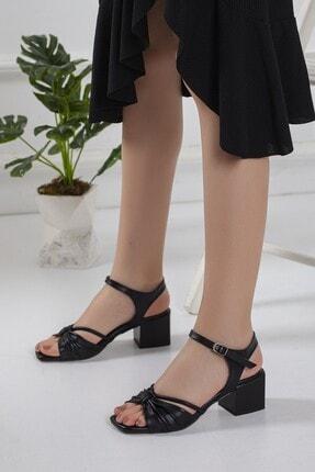 Kadın Siyah Topuklu Ayakkabı Topuklu ayakkabı-0014