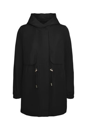 Vero Moda Kadın Kapüşonlu Beli Büzgülü Mevsimlik Mont 10243506 Vmgladıs 0