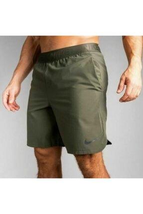 Nike Erkek Yeşil Mens Flex Drı Fıt Traınıng Gym Burnt Shorts Antreman Şortu 0