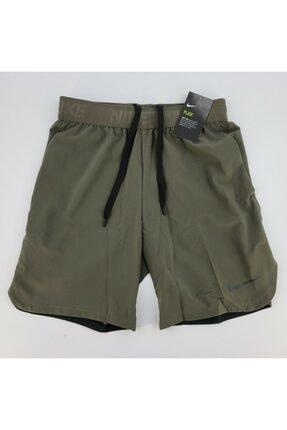 Nike Erkek Yeşil Mens Flex Drı Fıt Traınıng Gym Burnt Shorts Antreman Şortu 3