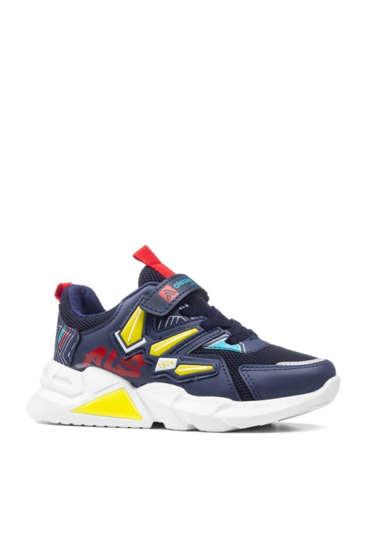 Unisex Çocuk Lacivert Beyaz Spor Ayakkabı