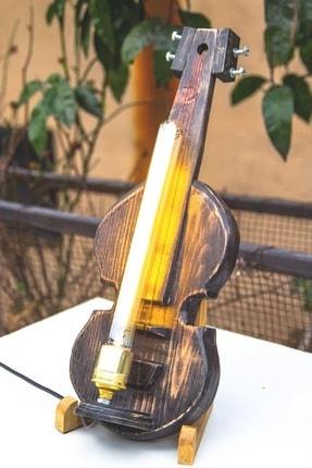Dekoratif Keman Şeklinde Lamba, Enstrüman Lamba, Masa Lambası, Gece Lambası BU1004