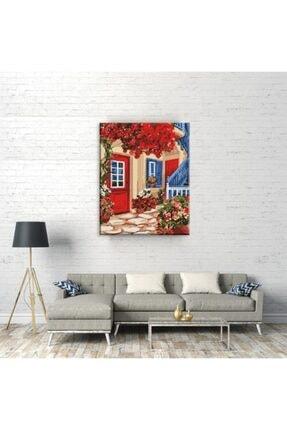 Tabdiko Kırmızı Bahçe Sayılarla Boyama Hobi Seti 40x50 cm 3