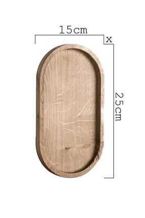 Dekolia Kayın Ağacı Çerezlik / Antre Anahtarlık / Organizer 2'li Set 3