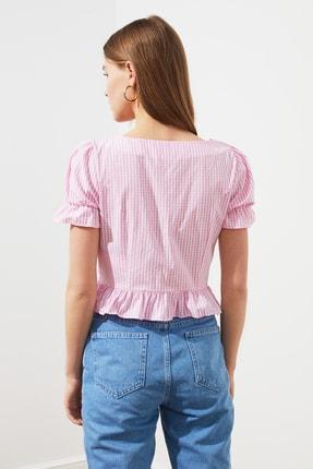 TRENDYOLMİLLA Pembe Düğmeli Bluz TWOSS21BZ0820 4