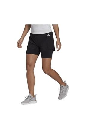 adidas W 2IN1 SHO Siyah Kadın Şort 101085736 0