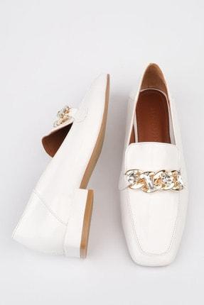 Marjin Kadın Beyaz Rugan Loafer Ayakkabı Bifan 2