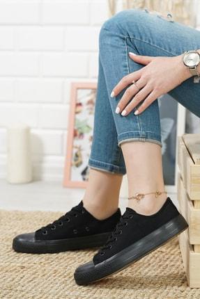 MCN SHOES Kadın Siyah Şeffaf Taban Günlük Sneaker 2