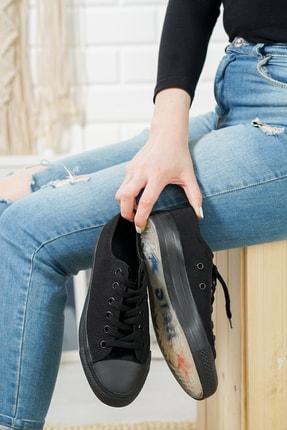 MCN SHOES Kadın Siyah Şeffaf Taban Günlük Sneaker 3