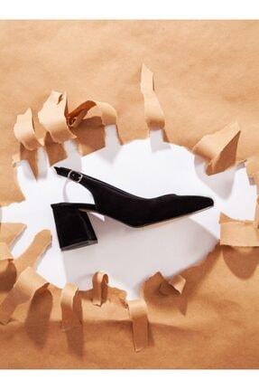 ayakkabıhavuzu Kadın Siyah Süet Topuklu Ayakkabı 3