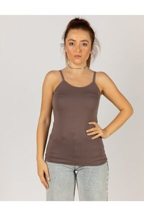 Kadın Askılı Penye Kumaş Body MAN4651551