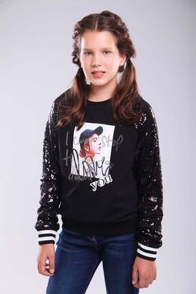 Pattaya Kids Kız Çocuk Sweatshirt Baskılı 9-15 Yaş MGB8010 0