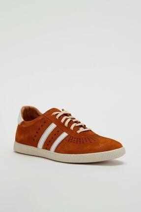 Muggo Erkek Kahverengi Hakiki Deri Sneaker Mgoslo04 0