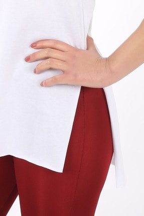 SARAMODEX V Yaka Düz Renk Basic Tişört 4