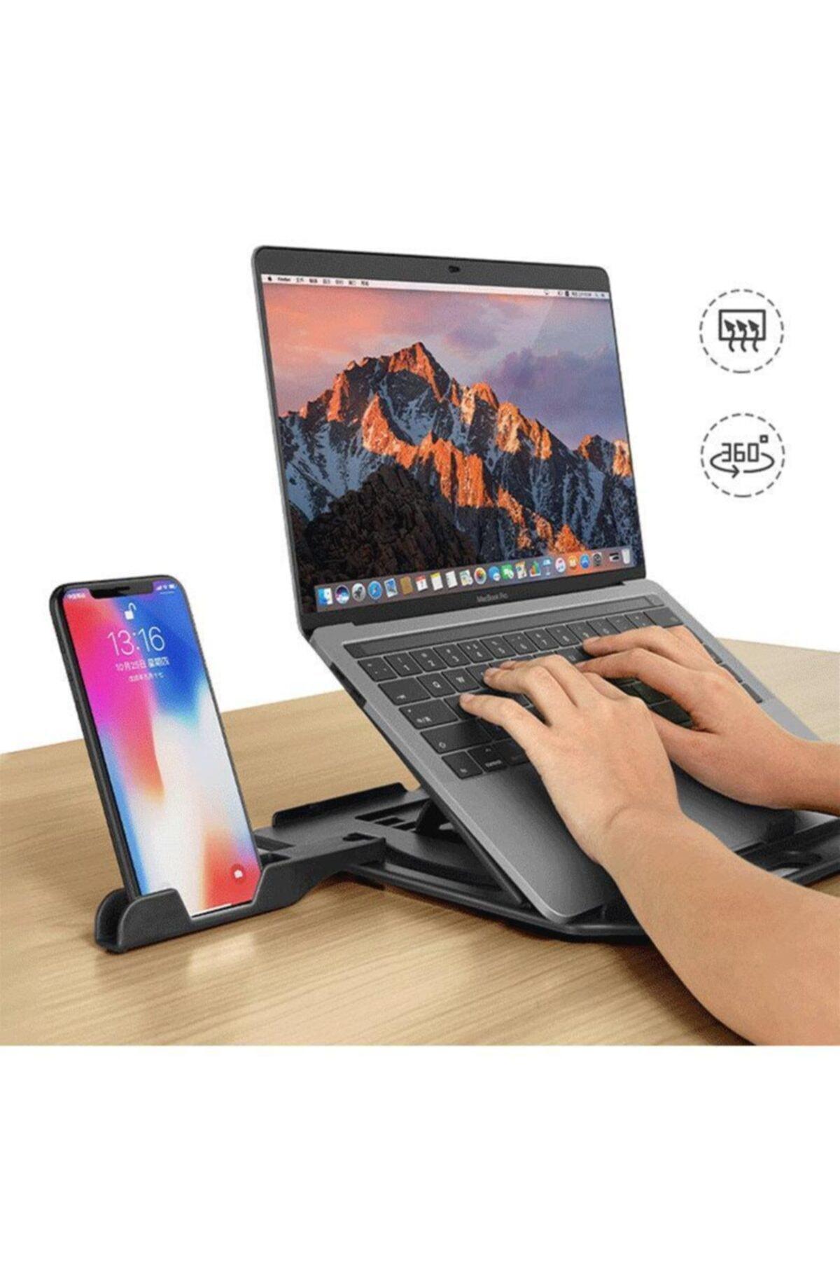 11-17 Inch 360 Derece Dönebilen Telefon Tutuculu Notebook Laptop Standı
