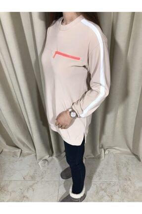 Loreen Kadın Bej Sweatshirt Tunik 3