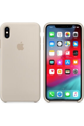 Iphone Xs Max Uyumlu Silikon Lansman Kılıf Gri Lansman kilif