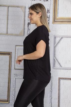 Şans Kadın Siyah Sırt Detaylı Düşük Kollu Bluz 65N22873 3