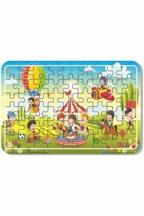 Baskı Atölyesi Uzay, Dinazor, Oyun, Hayvanlar 54 Parça Ahşap Puzzle Yapboz 5'li Set 3