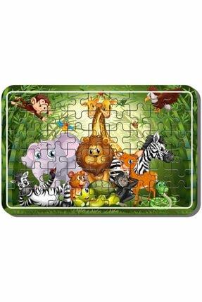 Baskı Atölyesi Uzay, Dinazor, Oyun, Hayvanlar 54 Parça Ahşap Puzzle Yapboz 5'li Set 4