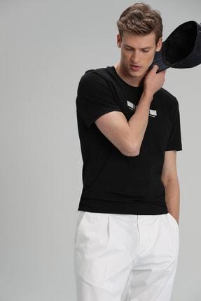 Lufian Timur Modern Grafik T- Shirt Siyah 2