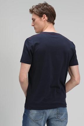 Lufian Monato Modern Grafik T- Shirt Lacivert 2