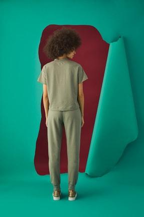 GİZZEY Kadın Haki Pantolon Takım 20592 2