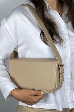 LinaConcept Kadın Vizon Kapaklı Baget Çanta 3