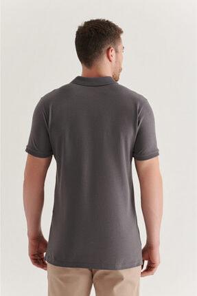 Avva Erkek Antrasit Polo Yaka Düz T-shirt A11b1146 2