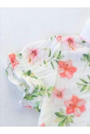 Aydodo Çiçek Desenli Organic Muslin Etek Görünümlü Şort Set 3