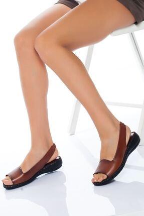derithy Kadın Taba Sandalet 0