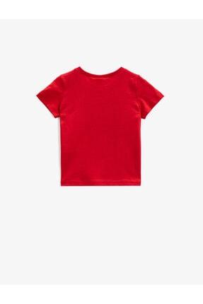 Koton Erkek Bebek Kırmızı Kısa Kollu Yazılı Baskılı Pamuklu T-Shirt 1