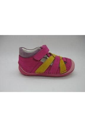 Picture of Kız Çocuk Fuşya Sarı Deri Ortopedik Destekli Pappy İlk Adım Ayakkabı 21 8103