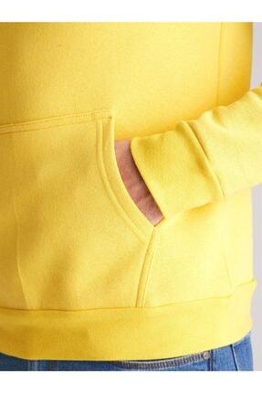 Dufy A. Sarı Içi Polarlı Kapüşonlu Erkek Sweatshırt - Slım Fıt 1