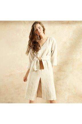 Kadın Vizon Kuşaklı Elbise 1YKEL7006X