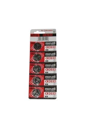 Maxell Maxcell Cr 2032 3v Lityum Para Pili 5'li Saat Pili Düğme Pil 0