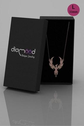 diamood jewelry Anka Kuşu Gümüş Kolye | Materyal Boyutunuzu S - M - L Den Birini Seçiniz 1