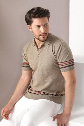 Ferraro Erkek Bej Polo Yaka Düğmeli Pamuk Triko Tshirt 3