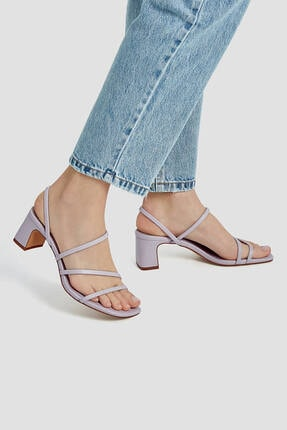 Pull & Bear Ince Bantlı Topuklu Sandalet 1