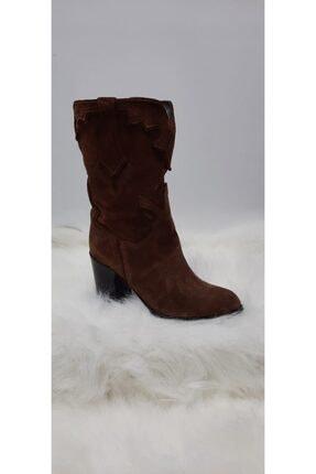 Kadın Kahverengi Bambi Hakiki Deri Kovboy Çizme kkbmbi0002