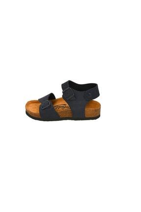 Moosefield Kids Hakiki Deri Lacivert Çocuk Sandalet 2