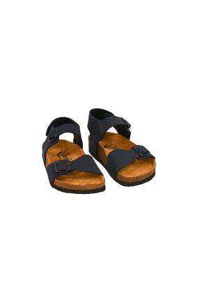 Moosefield Kids Hakiki Deri Lacivert Çocuk Sandalet 3