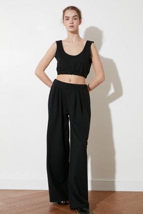 TRENDYOLMİLLA Siyah Flare Örme Pantolon TWOSS21PL0410 3
