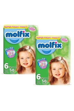 Molfix Bebek Bezi 6 Beden Ekstra Large Aylık Fırsat Paketi 100 Adet + Evony Maske 10'lu Hediyeli 1